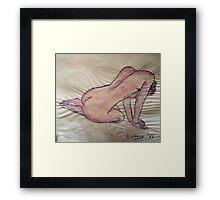 untitled akt Framed Print