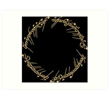Lord of the Rings - The Ring (Gold) Art Print