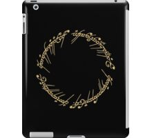 Lord of the Rings - The Ring (Gold) iPad Case/Skin
