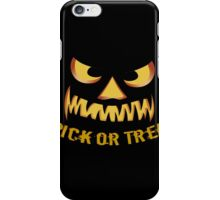 Trick or Treat with Pumpkin Face iPhone Case/Skin