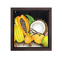 Dry Coconut & Juicy Friend Fruits Photographic Print