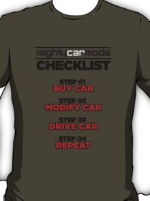 Mighty Mods Check List T-Shirt