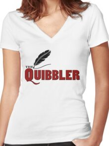 The Quibbler Women's Fitted V-Neck T-Shirt