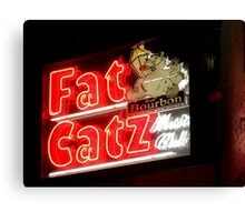 Fat Catz Saloon, French Quarter Canvas Print