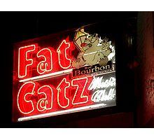Fat Catz Saloon, French Quarter Photographic Print