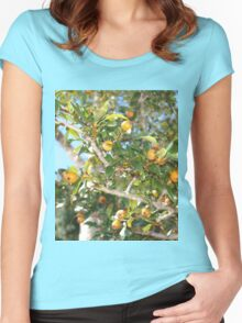 Cockspur haw tree Women's Fitted Scoop T-Shirt