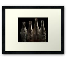 It was Best in the Bottle Framed Print