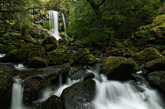 Green Green Hidden Falls by Robert Mullner
