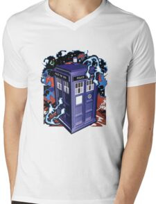 Time and Relative Dimension in Space Mens V-Neck T-Shirt