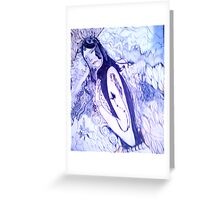 Tatoo Girl Greeting Card