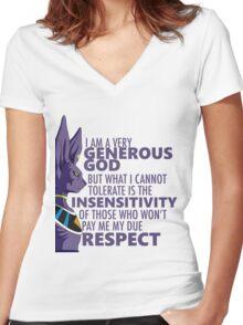 Beerus - The God of Destruction Women's Fitted V-Neck T-Shirt