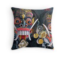 The Masks of Bali Throw Pillow