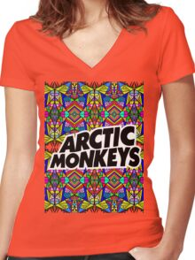 Arctic Monkeys - Trippy Pattern Women's Fitted V-Neck T-Shirt