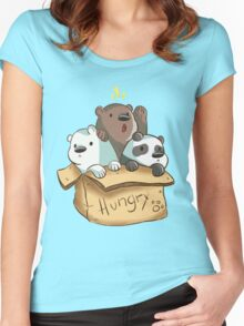 We Bare Bears - Hungry! Women's Fitted Scoop T-Shirt
