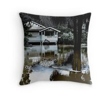 Brisbane Floods 2011- Inundation - Flooded By Moonlight Throw Pillow