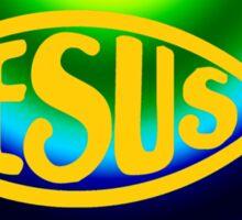JESUS RAINBOW FISH ICHTHYS Sticker