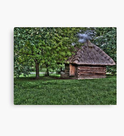 village building painting, oil painting, nature Canvas Print