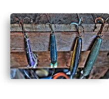 Old Fishing Lures Canvas Print
