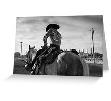Cowboy Tricks and Rodeos Greeting Card