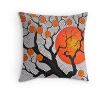 Orange Cherry Blossoms... Throw Pillow