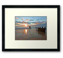 Dicky Beach Wreck - Caloundra Qld Framed Print