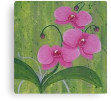 One Heart Orchids II Canvas Print