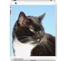 Black and white cat iPad Case/Skin