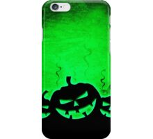 Green and Black Jack O' Lantern Print iPhone Case/Skin