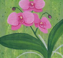One Heart Orchids I by Herb Dickinson