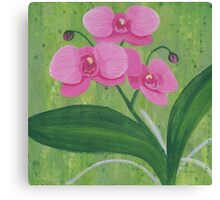 One Heart Orchids I Canvas Print