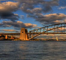 A Bridge Goes Over It (50 Exposure HDR Panoramic) -Sydney Harbour - The HDR Experience by Philip Johnson