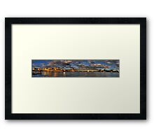A Bridge Goes Over It (50 Exposure HDR Panoramic) -Sydney Harbour - The HDR Experience Framed Print