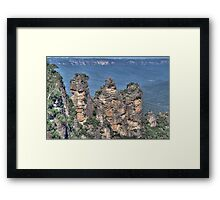 The Three Sisters, Blue Mountains, NSW, Australia (HDR) Framed Print
