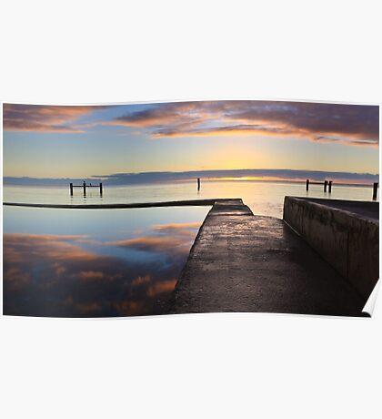 Tidal Pool, Edithburgh South Australia Poster