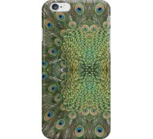 Peafowl Feather Symmetry Pattern iPhone Case/Skin