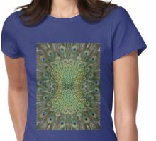 Peafowl Feather Symmetry Pattern Womens Fitted T-Shirt