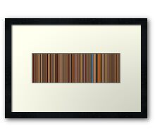 Moviebarcode: The Royal Tenenbaums (2001) [Simplified Colors] Framed Print