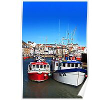 Prawn Boats in Pittenweem Harbour Poster