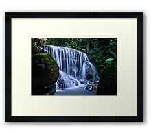 Down the Valley. Framed Print