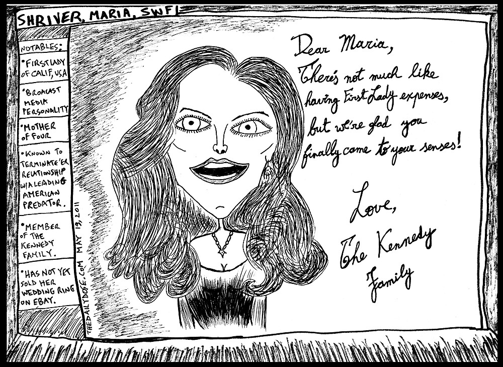 Maria Shriver Kennedy Card by bubbleicious