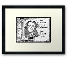 Maria Shriver Kennedy Card Framed Print