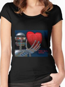 Be My Valentine Robot Women's Fitted Scoop T-Shirt