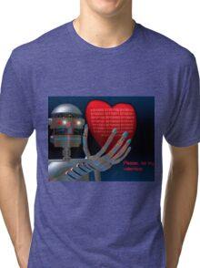 Be My Valentine Robot Tri-blend T-Shirt