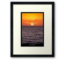 Sun Fall Framed Print