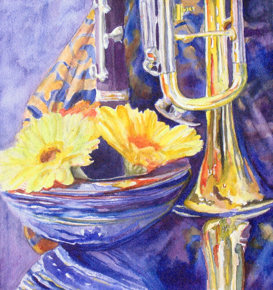 Triumphant Daisies by JennyArmitage