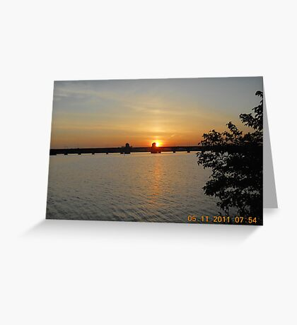 Hanover Street Bridge Sunset #137 Greeting Card