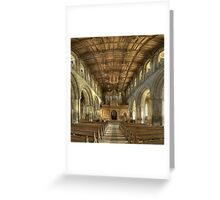 Nave, St David's Cathedral, Pembrokeshire, Wales Greeting Card