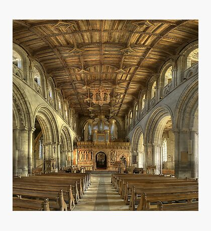 Nave, St David's Cathedral, Pembrokeshire, Wales Photographic Print