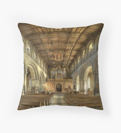 Nave, St David's Cathedral, Pembrokeshire, Wales Throw Pillow