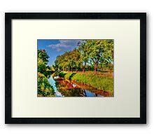Bata Canal Strážnice painting, oil painting, nature Framed Print